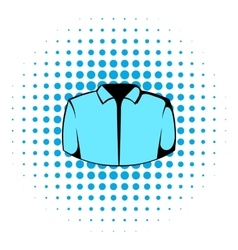 Dress shirt icon comics style vector