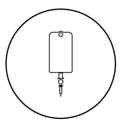 dropper package bottle installator icon black vector image