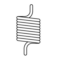 Elastic spring wire icon outline style vector