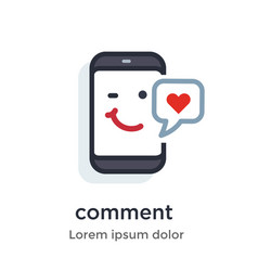 emotion phone content private comment like vector image