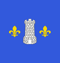 Flag of nontron in dordogne of nouvelle-aquitaine vector