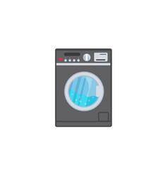 Flat washing machine icon vector