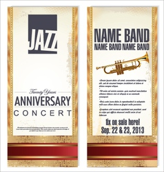 Flyer for jazz festival vector