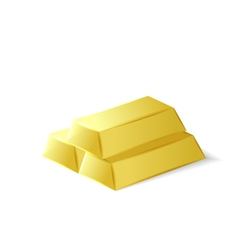 Gold bars investment tool vector