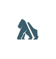 gorilla image logo vector image