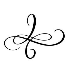 hand drawn love border flourish separator vector image