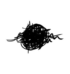 Hand drawn of tangle scrawl sketch abstract vector