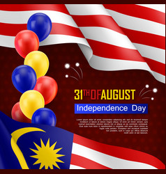 Happy malaysian independence day festive vector