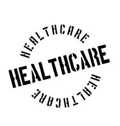 Healthcare rubber stamp vector