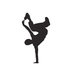 Hip hop dancer silhouette vector