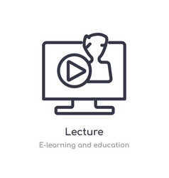 Lecture outline icon isolated line from vector