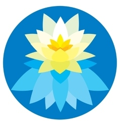 Lotus flower icon application vector image