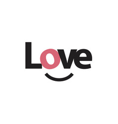 love template design vector image