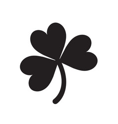 Lucky shamrock three leaf clover silhouette for st vector