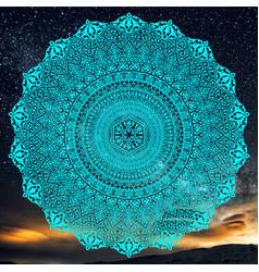 mandala eslimi vector image