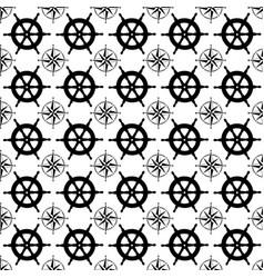 Maritime mood seamless nautical pattern vector