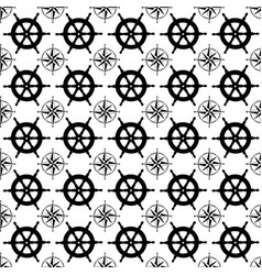 Maritime mood seamless nautical pattern with vector