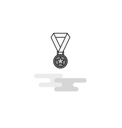 medal web icon flat line filled gray icon vector image