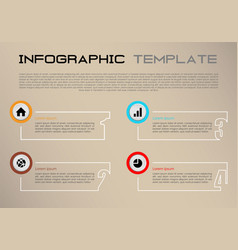 modern infographics with white rectangle vector image