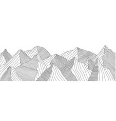 mountain landscape wavy lines vector image