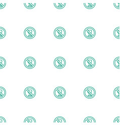 no alcohol icon pattern seamless white background vector image