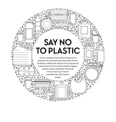 No plastic recycling and ecology disposable vector