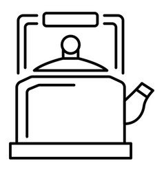 old kettle icon outline style vector image