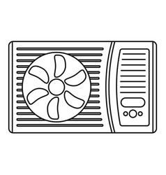Outdoor air conditioner fan icon outline style vector