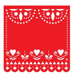 Papel picado template design with no text vector