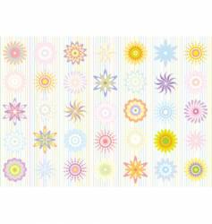 pastel color floral pattern vector image