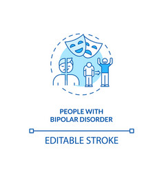 People with bipolar disorder concept icon vector