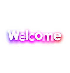 pink welcome sign on white background vector image