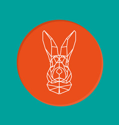 portrait of rabbit geometry style vector image