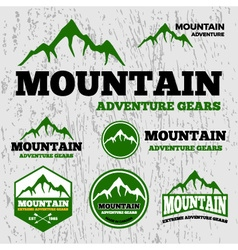 Premium mountain adventure logo vector image
