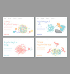 psychotherapy landing page template vector image