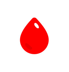 red drop blood icon donor symbol simple flat vector image