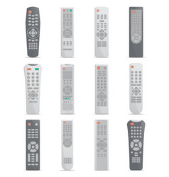 Remote control set for tv or media center vector