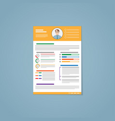 resume yellow vector image