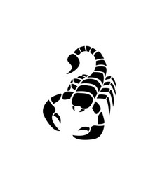 Scorpion icon in simple tattoo style vector