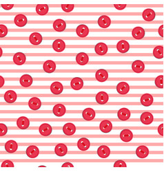 seamless pattern with colorful red buttons vector image