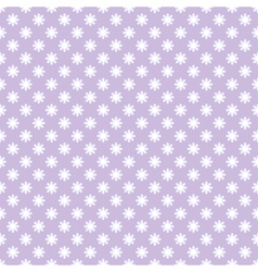 seamless pattern with flowers in retro style vector image