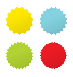 set four starburst sunburst badges four vector image