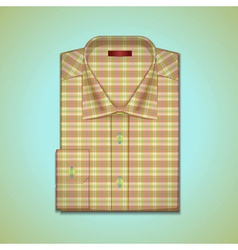 Shirt of tattersall vector