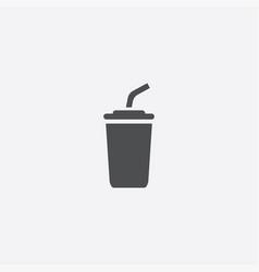 simple coffee icon vector image