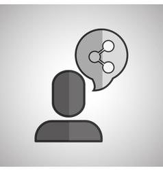 Social media profil icon design vector
