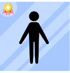 stickman icon vector image