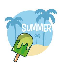 Summer and beach concept vector