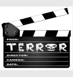 terror clapperboard vector image