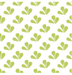 tile tropical pattern with green leaves on white vector image