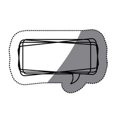 White square chat bubble icon vector